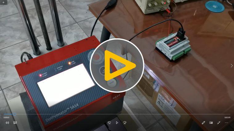 Dotpeenator SA14 Controller RS232 Communication Sample