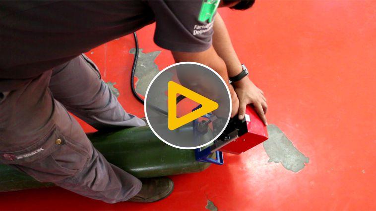 LPG Gas Cylinder Dot Peen Marking Operation