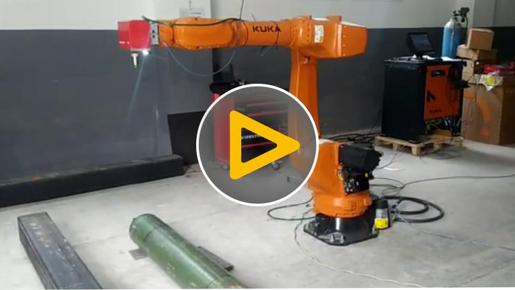 Robotic Dot Peen Marking Operation