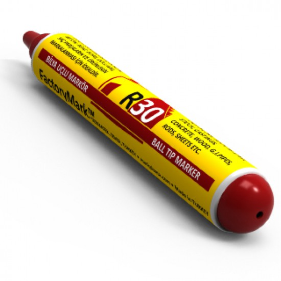 FactoryMark™ R30 65ml Red Pump Rall Point Paint Marker