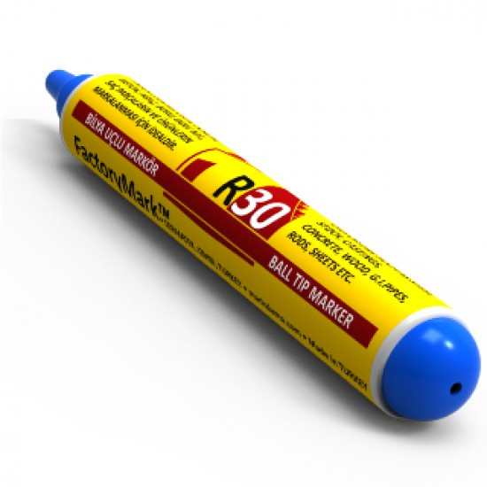 FactoryMark™ R30 65ml Blue Pump Rall Point Paint Marker