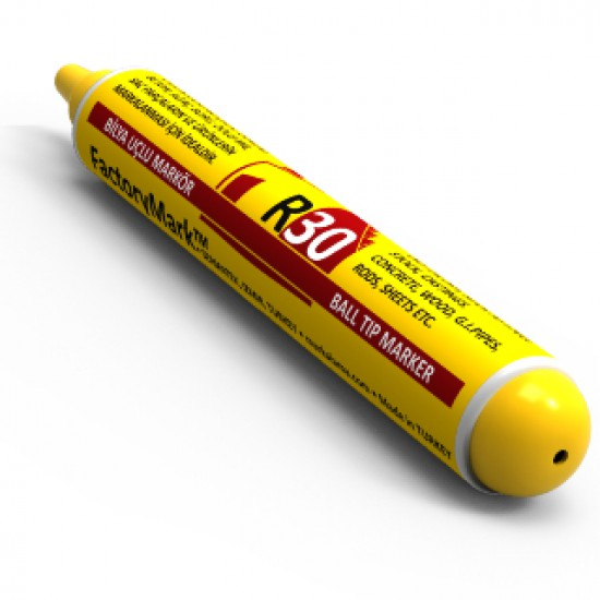 FactoryMark™ R30 65ml Yellow Pump Rall Point Paint Marker