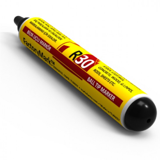 FactoryMark™ R30 65ml Black Pump Rall Point Paint Marker